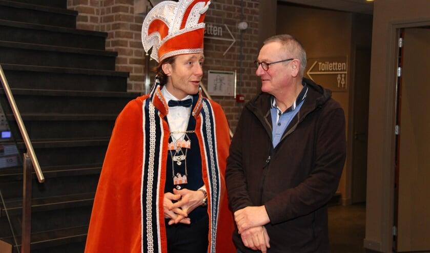 Prins Frans de Stenenschuuver en Frits Meurs. (foto: Frank Hoekjan)
