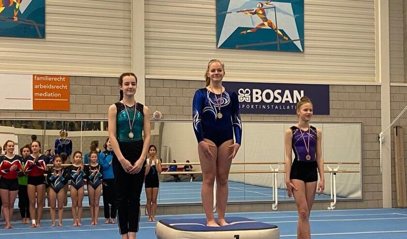Isabel Kroon verdiende een van de twee gouden medailles. (foto: Marjolein Lekkerkerker)