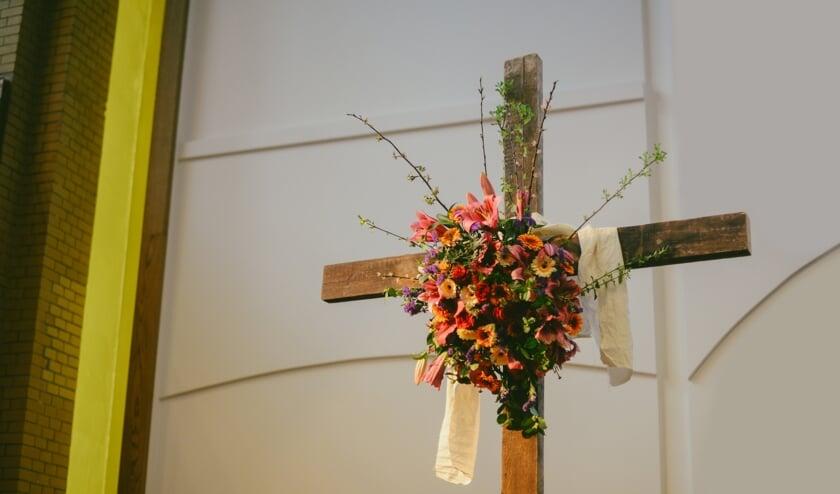 Paasversiering in een kerk. (foto: Nieuwe Kerk Utrecht)