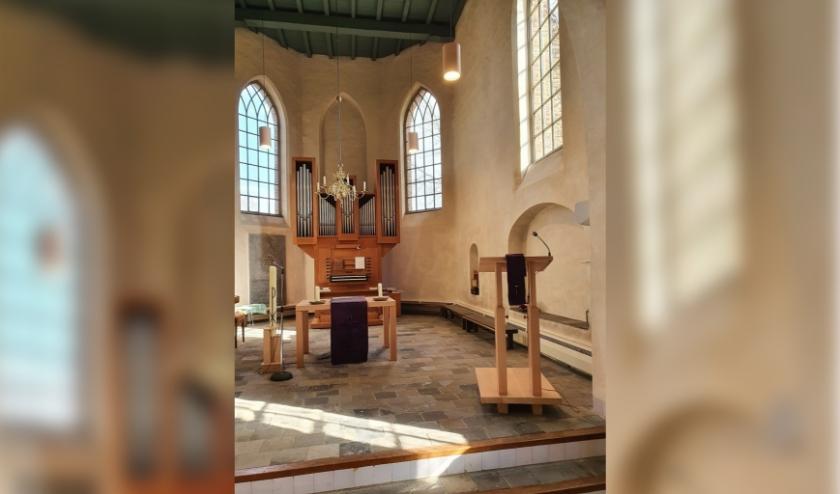 Zicht op het koor van de Joriskerk in Heumen/ (foto: PKN Heumen)