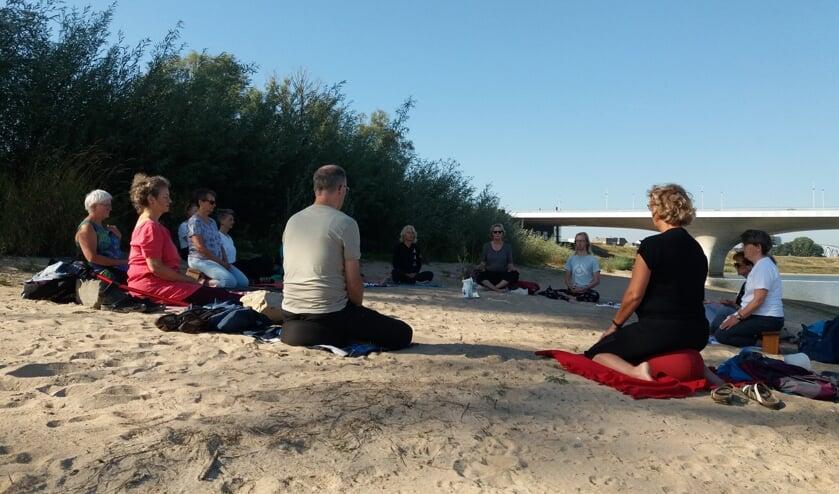 Meditatie Spiegelwaal zomer 2019. (foto: Ine Albers)