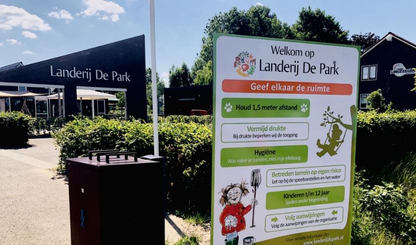 Ingang Landerij De Park. (foto: Imker fotografie)