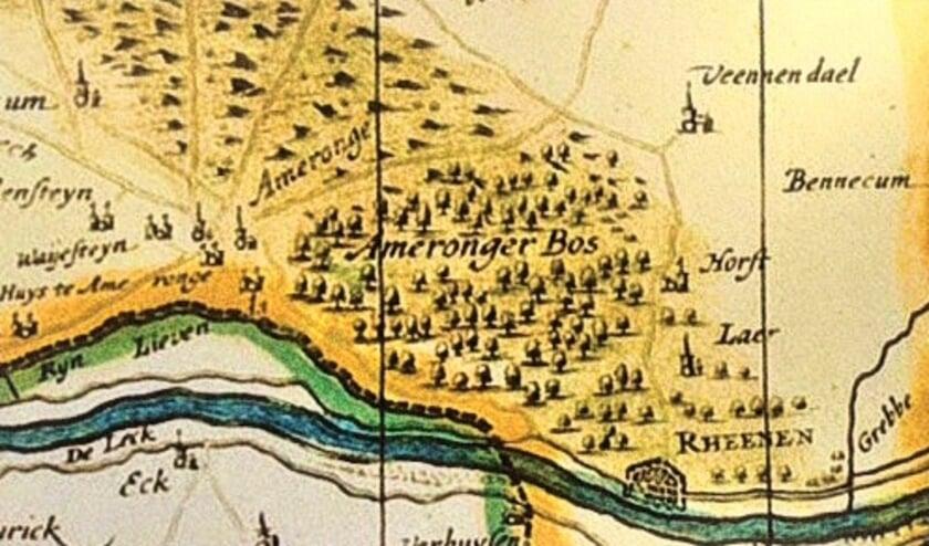 Archeologische kaart Amerongen. (foto: Utrechts Landschap)