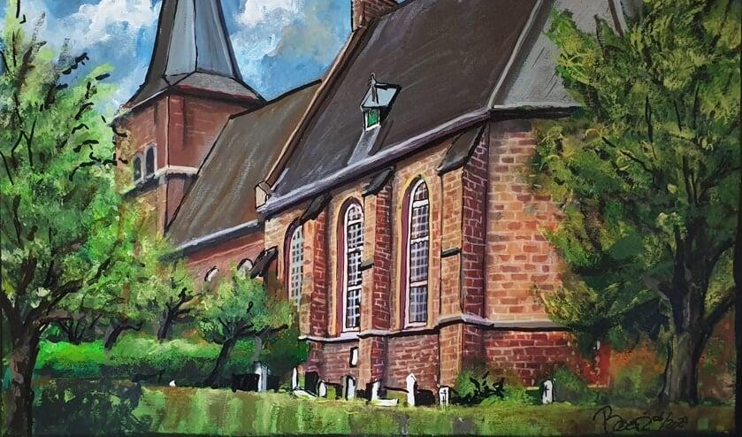 Schilderij protestantse kerk Jouk Boon. (foto: Wim Moll)