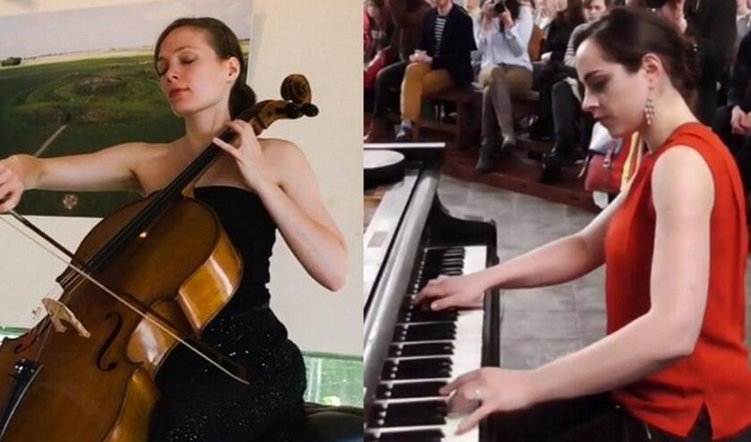 Hanneke Rouw, cello, en Masha Galperina, piano. (foto: Eigen beheer musici)