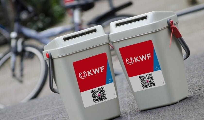 Collectebussen KWF. (foto: Karin Wiggelman)