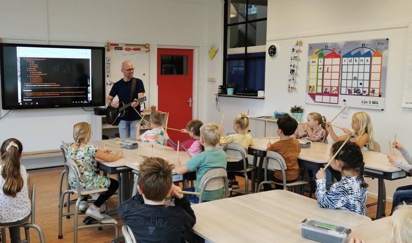 Workshop muziek Troef. (foto: Leerkracht)