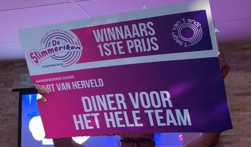 <p>Winnaars Slimmerikenkwis 2021. (foto: Ronald van Osch)</p>