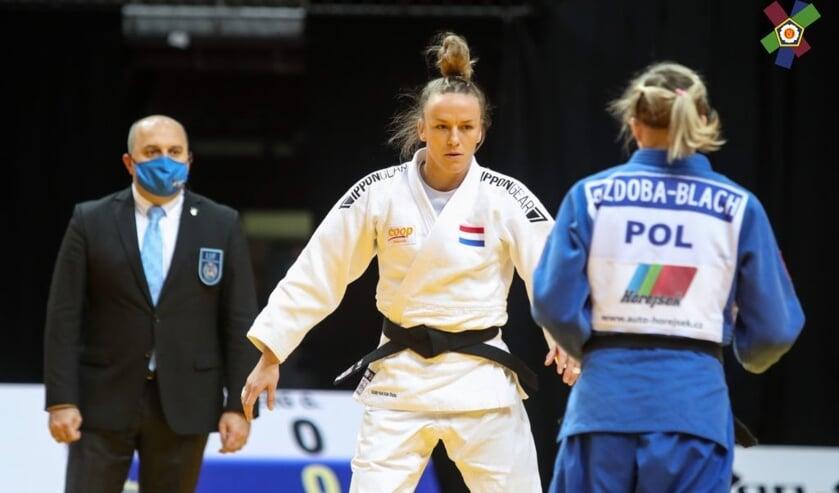 <p>Geke werd drie weken geleden tweede in Zagreb. (Eigen foto)</p>