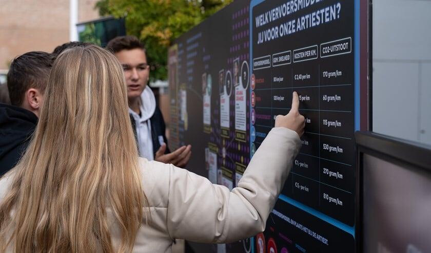 Leerlingen krijgen tijdens de Roadshow een reëel beeld van de logistieke wereld (Foto: Agency X)