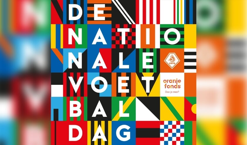 <p>Logo Nationale Voetbaldag. (foto: KNVB/ Promotiemateriaal)</p>