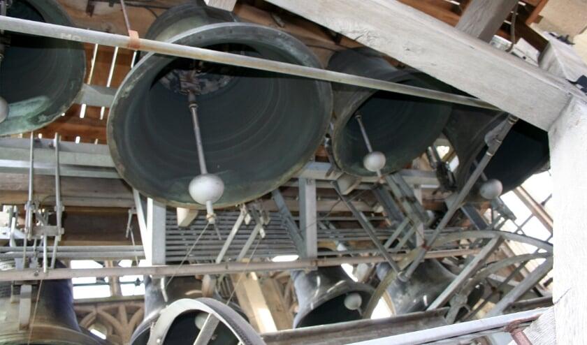 <p>Klokken in Cuneratoren Rhenen. (foto: Arnold van Hooft)</p>