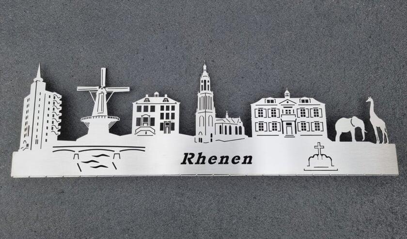 <p>De skyline van Rhenen in RVS. (foto: Youssef Girgis)</p>