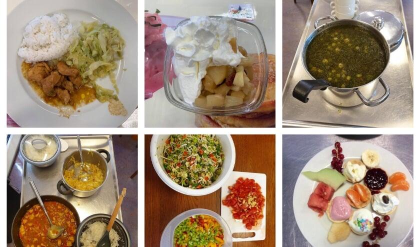 <p>Collage van eten Huis van Dodewaard. (foto: Huis van Dodewaard)</p>