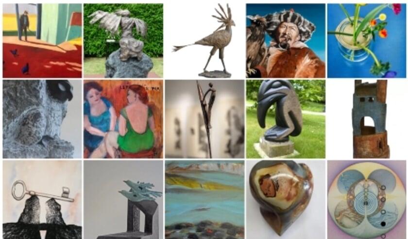 <p>Overzicht deelnemende kunstenaars. (foto: Kunstroute Heumen). (foto: Kunstroute Heumen)</p>