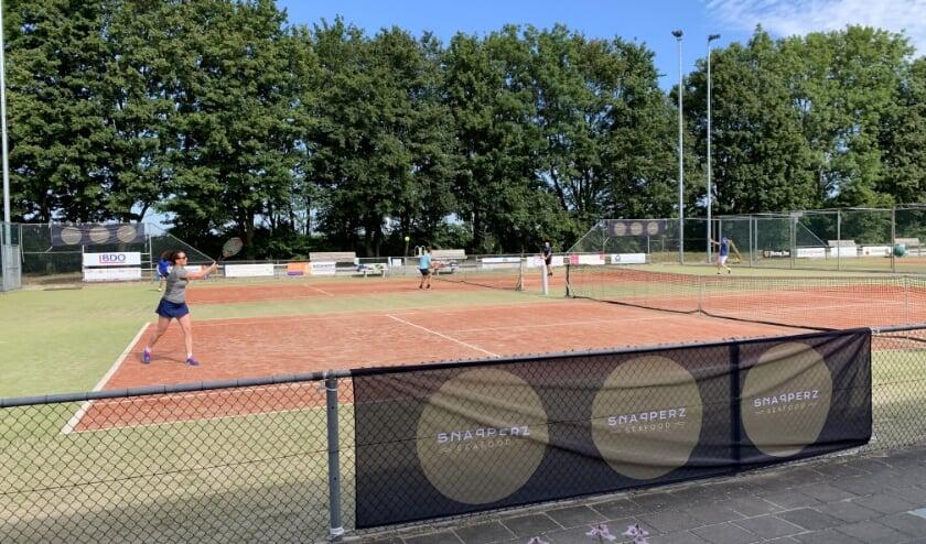<p>Spannende wedstrijden op de grasbanen van De Hoge Wick. (foto: TV De Hoge Wick)</p>