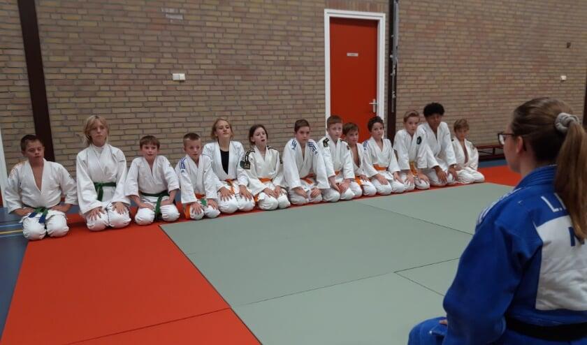 <p>Judoka&#39;s tijdens de training. (foto: Judovereniging Angeren)</p>