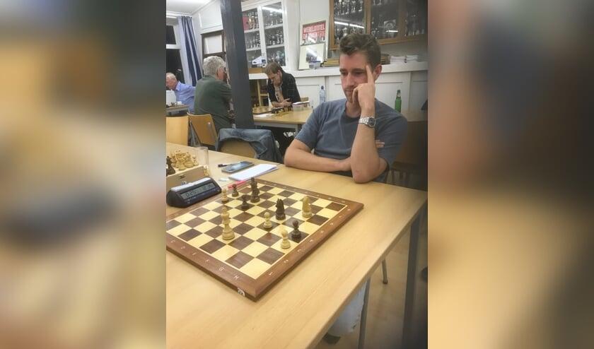 <p>Byron Eekhout bepaalde de eindstand op 1-5. (foto: Huub Blom)</p>