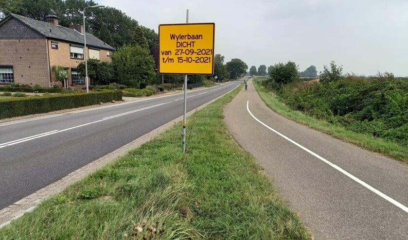 <p>Wylerbaan tot 15 oktober afgesloten. (foto: Joop Verstraaten)</p>